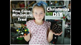 DIY Pine Cone Miniature Christmas Tree for Kids ❀ Emily's Small World ❀