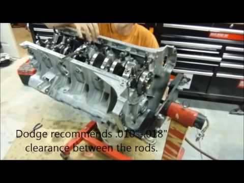 Dodge Viper 488 build:   Adjusting Rod Side Clearance and Finishing the Shortblock