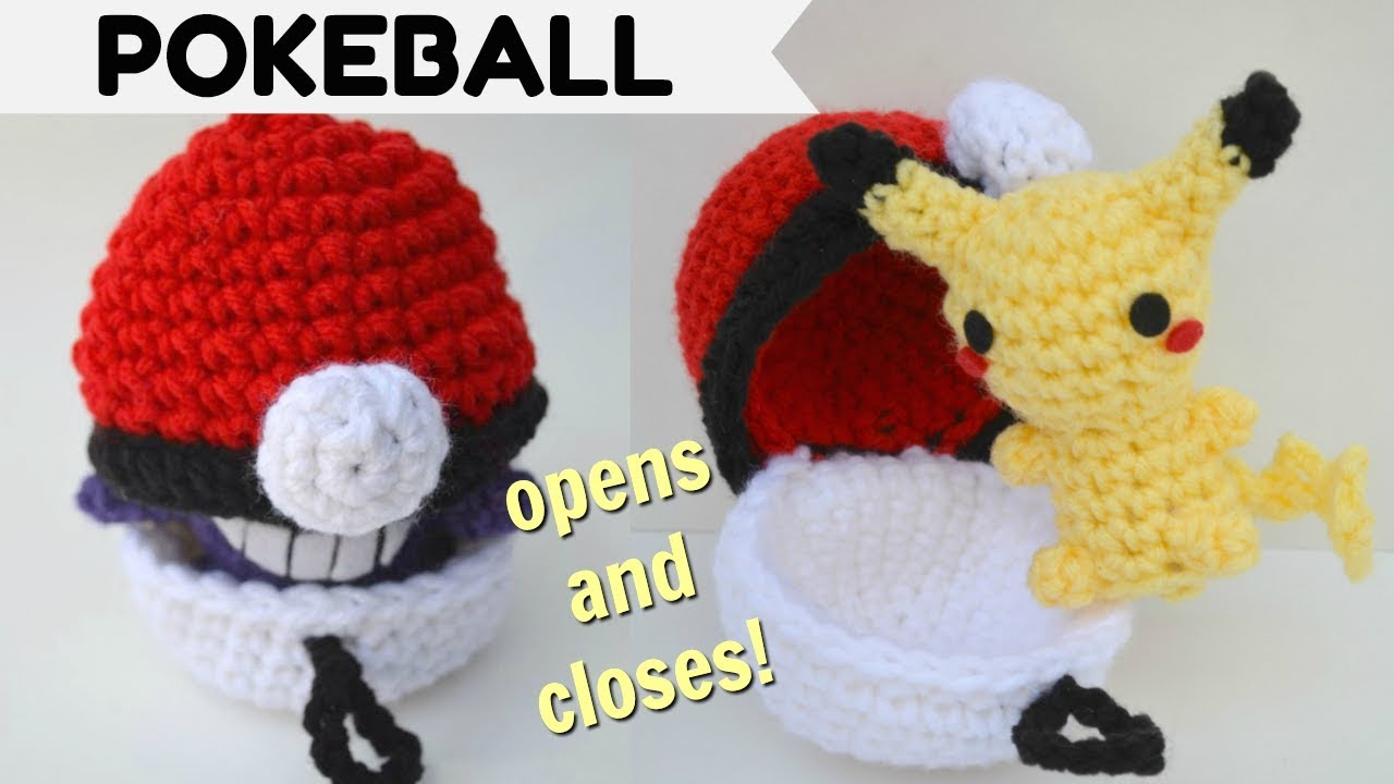How To Crochet A Pokeball That Opens And Closes Pokemon Amigurumi