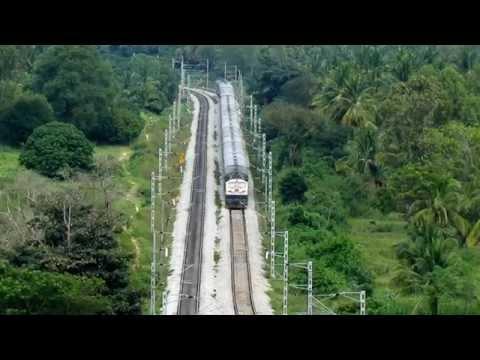 Speeding Trains on Beautiful Bangalore Mysore Line - Indian Railways