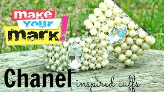 How to make Chanel Inspired Cuffs DIY