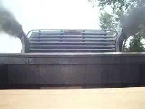 smokin ford f350 w/ stacks diesel powerstroke