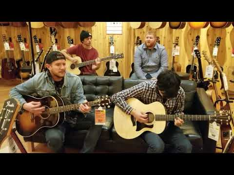 "Trevor Tagle and crew Guitar Center impromptu jam ""Drinking Problem"" Midland cover"