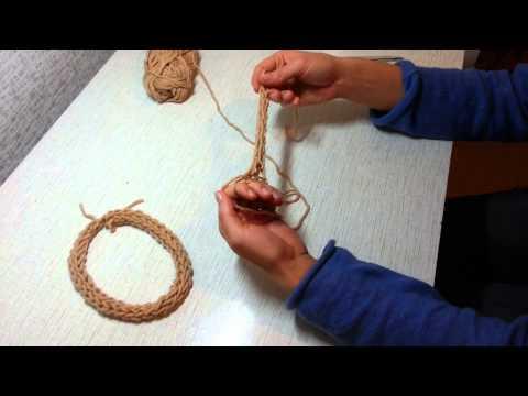 Вязание на пальцах - мастер-класс