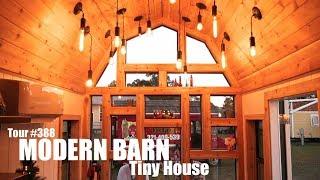 "Modern Barn Tiny House W/""constellation Of Lights"""