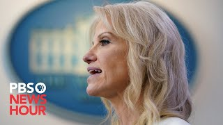 WATCH: Kellyanne Conway and public health officials brief reporters on opioid deaths
