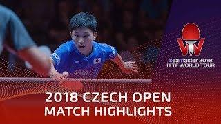 Tomokazu Harimoto vs Patrick Franziska | 2018 Czech Open Highlights (1/4)