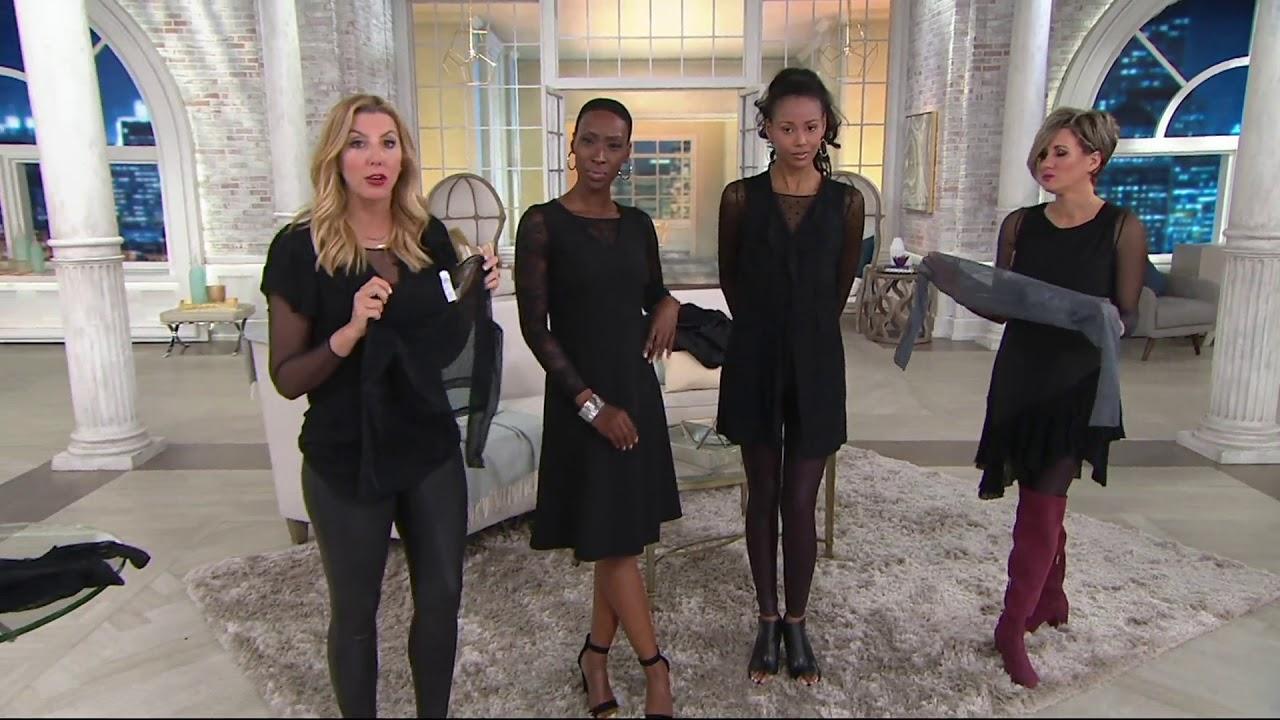 c2457e40d3acd Spanx Sheer Fashion Long Sleeve Crop Top on QVC - YouTube