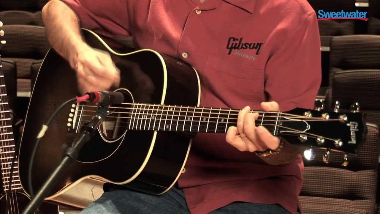 3ab02040e7b Gibson Acoustic J-45 Standard Acoustic-electric Guitar Demo - Sweetwater  Sound - YouTube