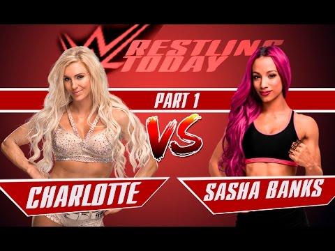 WWE RAW / SASHA BANKS vs. SHARLOTTE / Саша Бенкс vs. Шарлотта