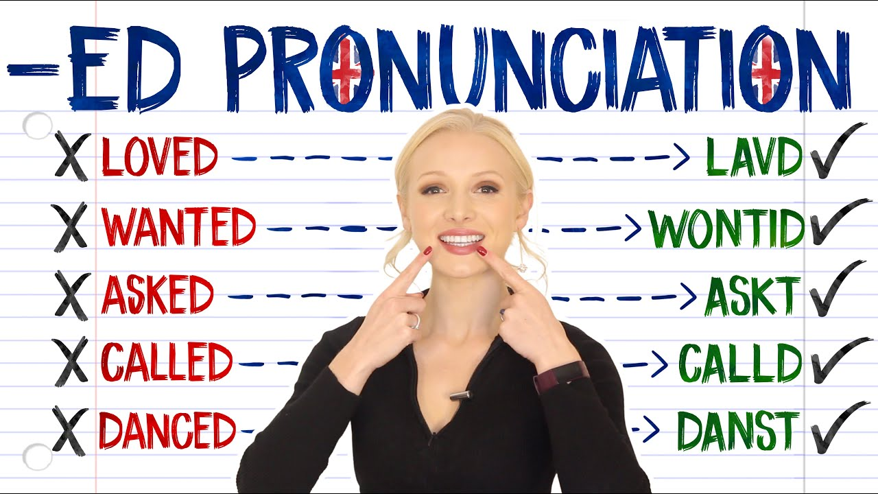 -ED pronunciation - /t/ /d/ or /id/? (pronounce PERFECTLY every time!)