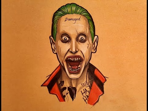 How to Draw the Joker Jared Leto