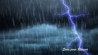 Sound Rain Noise to Sleep Tranquilly with Light Thunders, ASMR! 10 HOURS!!