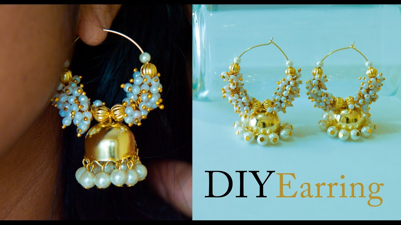 How to make earrings jhumkas at home DIY Bollywood