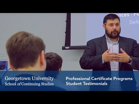 Georgetown University Professional Certificate Programs