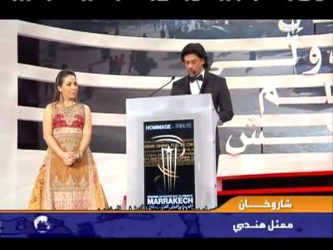 Shahrukh Khan gets award in Morocco 2011 Festival International du Film de Marrakech