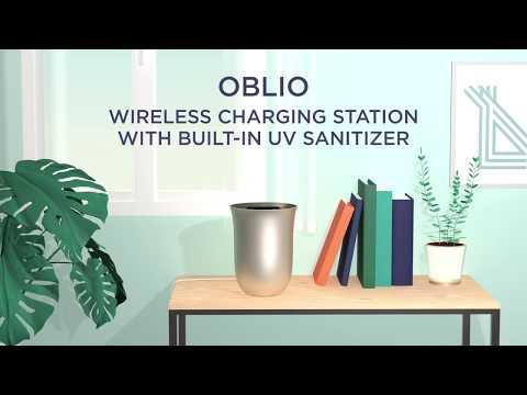 Lexon Oblio Wireless Charging Station & Sanitizer | MoMA Design Store