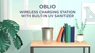 Lexon Oblio Wireless Charging Station & Sanitizer | MoMA Design Store