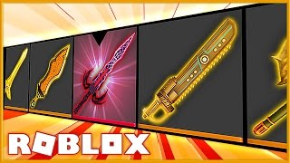 HUGE EXOTIC KNIFE UNBOXING IN ROBLOX ASSASSIN!!