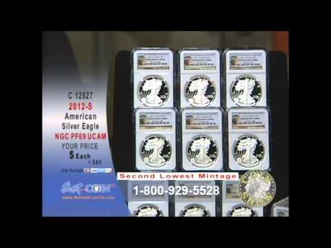 2012-S NGC PF69 American Silver Eagle on Art and Coin TV