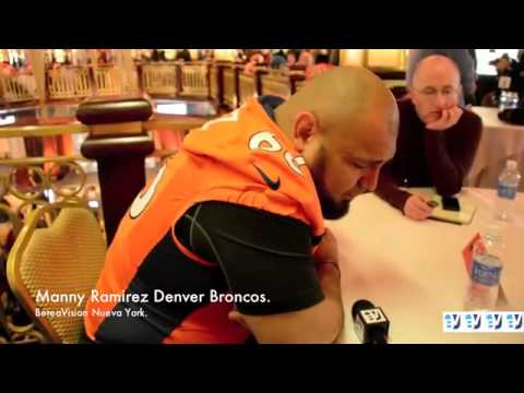 Manny Ramirez de los Broncos Denver habla de los latinos en la NFL
