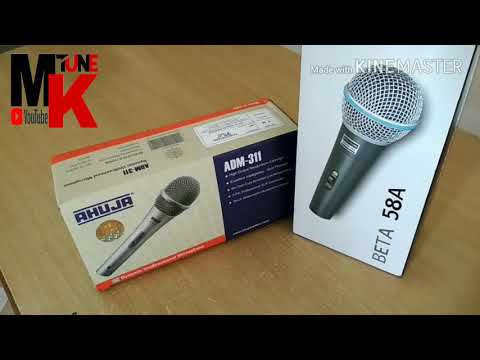 BEST AHUJA MIC |TOP 2 MICS UNDER 1000 RS || BEST MICROPHONE FOR LIVE SINGING PROGRAMS || IN HINDI