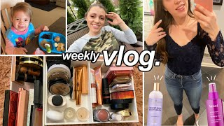 Organizing My Makeup, What We're Eating, Beauty Faves // WEEKLY VLOG