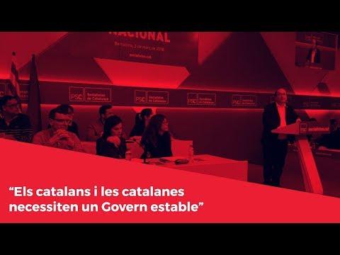 """""""Els catalans i les catalanes necessiten un Govern estable"""""""