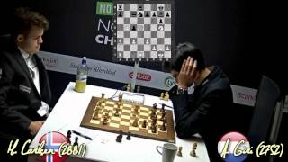 Magnus Carlsen vs Anish Giri - Norway Chess 2014 - Time Lapse (Kasparov kicks off)