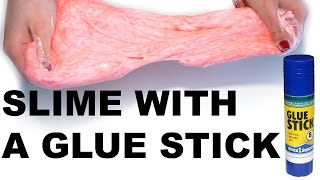 HOW TO MAKE SLÏME WITH GLUE STICK! WITHOUT BORAX,DETERGENT,CORNSTARCH!