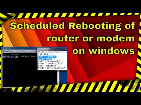 Scheduled Automatic rebooting of router or modem in windows 7