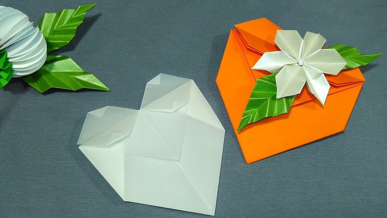 Easy Origami Heart Folding Instructions - How to Make an easy ... | 720x1280