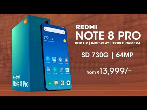 Redmi Note 8 Pro - Snapdragon 730G, 64MP Camera, Indisplay