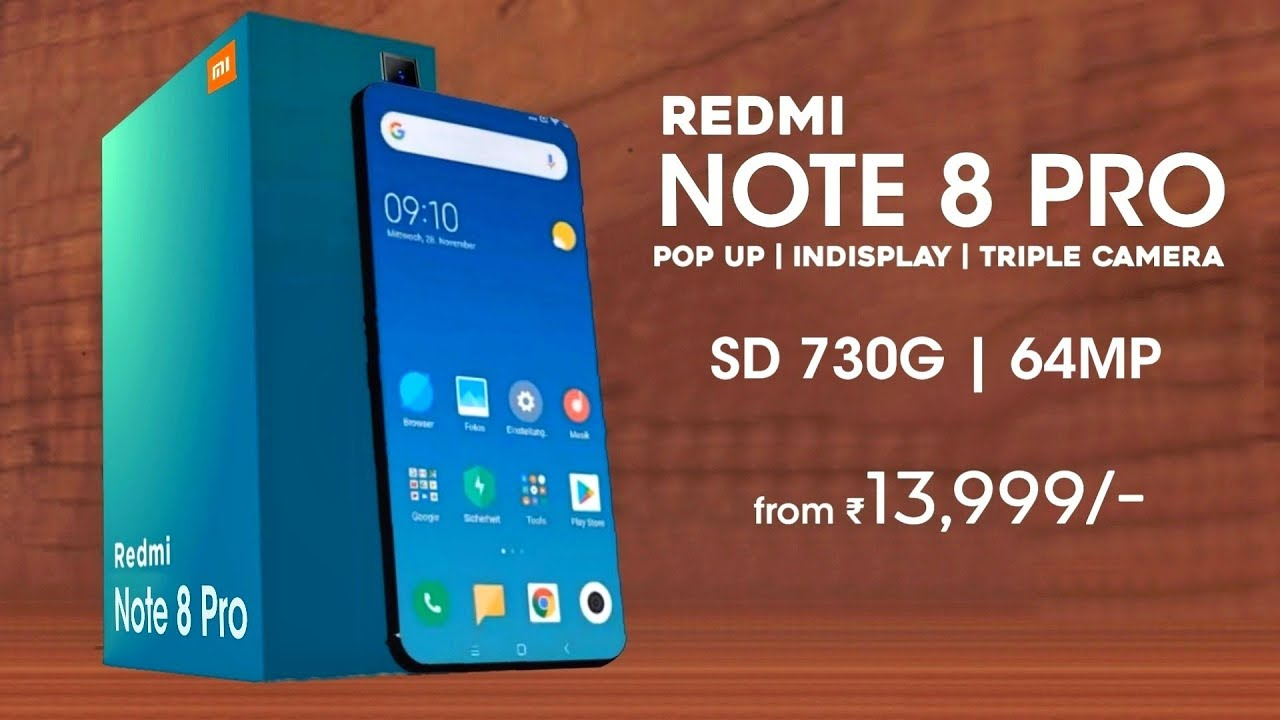 Redmi Note 8 Pro Snapdragon 730g 64mp Camera Indisplay Fingerprint Redmi Note 8 Pro Youtube