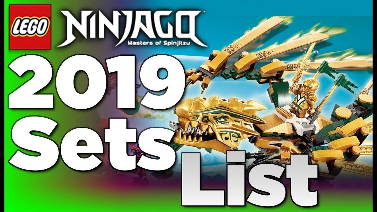 Lego Ninjago 2019 Sets List Youtube