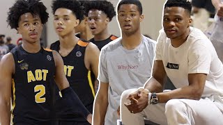 Russell Westbrook Watches YOUNG Sharife Cooper & PRIME AOT VS Cassius Stanley & Team WHY NOT @ EYBL