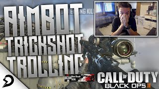 THEY THOUGHT IT WAS REAL!! - BO2 Aimbot Trickshot Trolling!