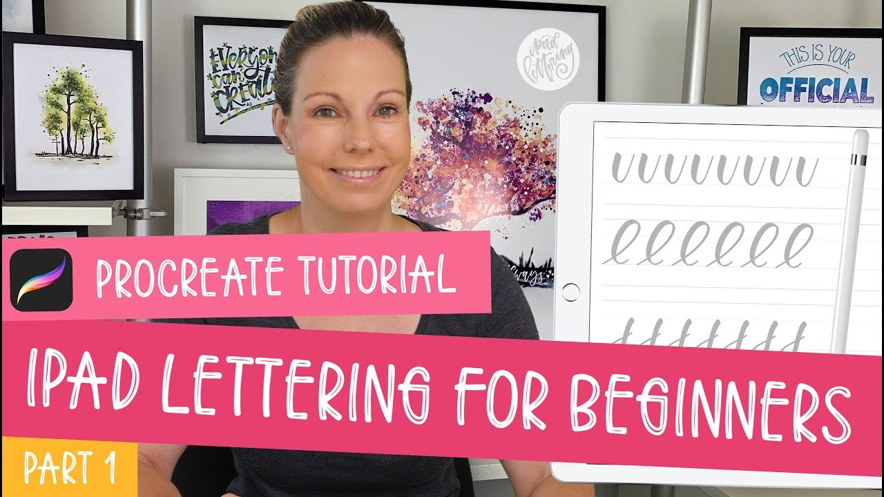iPad Lettering For Beginners - Procreate Tutorial | My best tips and tricks