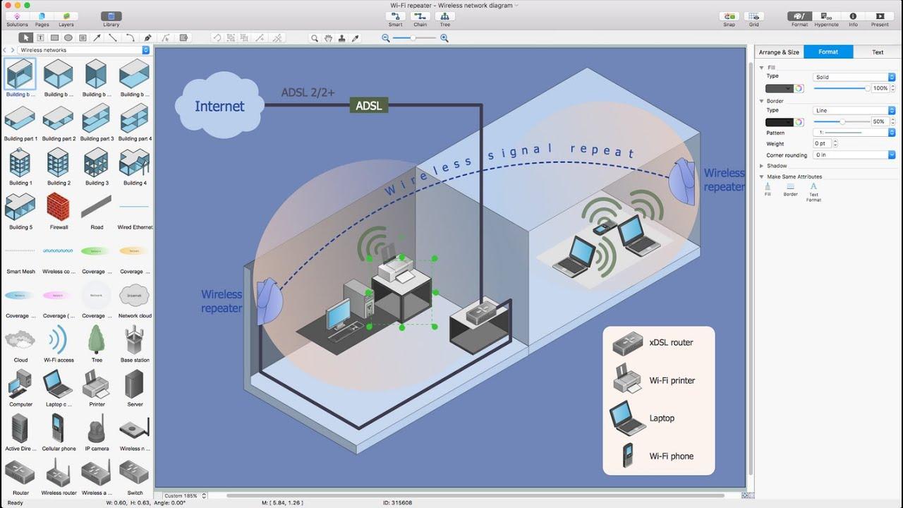 how to draw a wireless network diagram [ 1280 x 720 Pixel ]