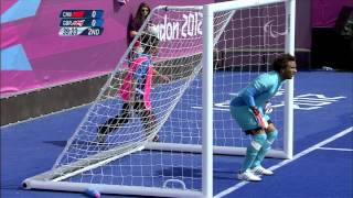 Football 5-a-side - CHN versus GBR - Men's 5-8 Semifinal - London 2012 Paralympic Games thumbnail