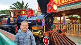 Funny Baby in PortAventura Park and Outdoor Playground for Kids Family Fun Playtime