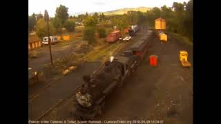 9/8/2018 Seven car train 215 arrives into Chama, NM