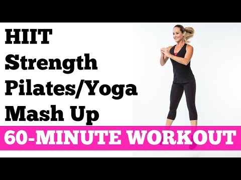 Best Workout to Burn Fat Fast Full Exercise Video | 60-Minute HIIT Strength Pilates Yoga Mash Up