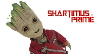 Hot Toys Baby Groot Life Size Guardians of the Galaxy Vol  2 Marvel Movie Action Figure Collectible