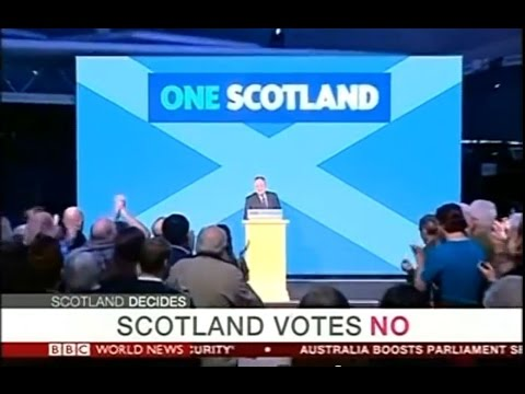 Scottish Independence Referendum, 2014 - Live Coverage - BBC World News - 19/9/14 - Part 2 of 4
