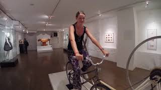 Riding The Dildo Bike at The Sex Museum NYC
