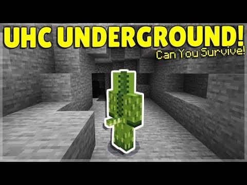 Minecraft UHC SURVIVAL - UNDERGROUND ULTRA HARDCORE CHALLENGE!!