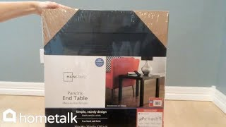 How to Make a Kitchen Island With Storage Using 3 End Tables From Walmart