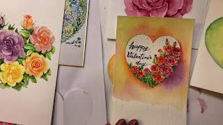 Let's draw-Valentines Day card…