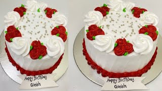 Simple birthday cake decoration